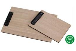 OAK Klemmbrett A5: Klemmbrett/Clipboard aus 5mm aus Schichtholz - Eiche roh. Auch als Speisekarte v