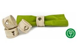 DEER Serviettenring: Trendige Serviettenringe gedrechselt mit gelaserten Motiven, wählbar: Herz, 3 He