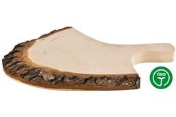 RUSTICA Brett mit Griffrinde, Roh: Rustikales Rinden-Jausenbrettl mit Griff. Beiseitig geschliffenes Erlenholz. Auc