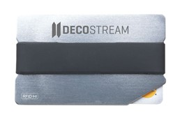 RFID Personala Kartenhalter:   Trendiger Aluminium-Kartenhalter mit glänzender Oberfläche und elastischem S