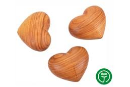 SOFT Handkuschler: Holz Handkuschler in Form eines Herzens aus Kirschholz, geölt. Jedes Herz ein Ei