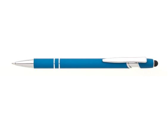 Naton Kugelschreiber: Kugelschreiber mit Touch-Ende, weich gummierte Oberfläche mit zwei Zierringen