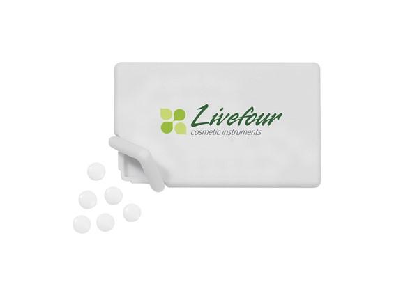 MintSpender: Zuckerfreie Pfefferminzdrops in einem handlichen Spender, Inhalt ca. 8 g (50 Stü