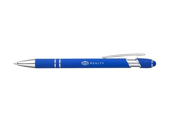 Laura Touch Kugelschreiber: Schlanker, blauschreibender Kugelschreiber mit Aluminiumgriff. Ausgestattet mit