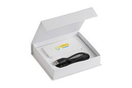 Powerbank Strong 5200: Super starke Powerbank aus Kunstoff mit aufleuchtendem Batterie-Stand-Indikator.