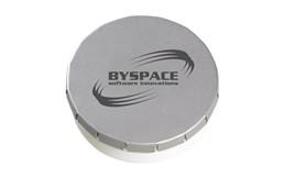 KLIK Minz Kunststoff: Dose aus Kunststoff mit Metalldeckel und handlichem Dreh-Klicksystem. Gefüllt mi
